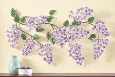 Amazon.com : Hanging Purple Lavender Purple Lilac Floral Vine 3D Metal Wall Art Spring Flowers Spring Summer Bloom Plaque : Everything Else