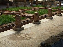 Ancient Roman architecture - Gardens in Conimbriga, Portugal