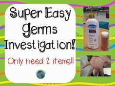 Pass the Germs! A great way to teach students how quickly germs spread.