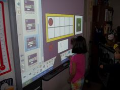 Math Tubs in Kindergarten: Smartboard game with ten frame