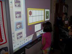 Math Tubs in Kindergarten: Smartboard game with ten frame