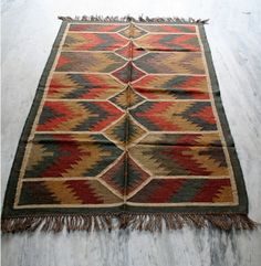 Antique Anatolia Turkish Wool Jute  Antalya Kilim Area Rug,Kelim,Carpet #Turkish