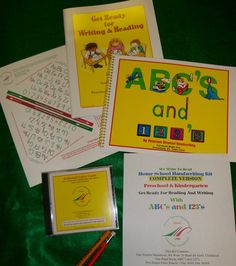 Peterson Directed Handwriting- this method works! No more tracing, find out why on the website. This company has amazing customer service! Nelson Rand aka Mr. Pencil will consult with you via chat or phone to help in any way!! We are now using the preschool/kindergarten homeschool handwriting kit shown here. Love it!