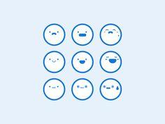 Emotions designed by Frances Tung. Pattern App, Icon Design, Logo Design, Journal App, Emoji Design, Sign System, Diagram Design, Mascot Design, Information Design