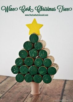 Put those wine corks to use and make this adorable Wine Cork Christmas Tree! Darling and fun and EASY! Popsicle Stick Christmas Crafts, Cork Christmas Trees, Christmas Crafts For Toddlers, Christmas Wine, Holiday Crafts, Christmas Cooking, Summer Crafts, Christmas Christmas, Fall Crafts