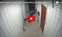 Store Owner Tired of his Place Being Robbed Sets a Trap ….. Hilarity Ensues  Wow. We actually watched this video in its entirety. It was that amusing. Sometimes, you just have to take matters into your own hands as this convenience store owner did...