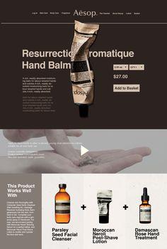 Aesop redesign website on Behance Website Design Inspiration, Website Design Layout, Web Layout, Layout Design, Ecommerce, Design Café, Minimal Web Design, Business Design, Editorial Design
