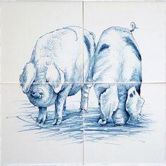 tegels - http://www.frisiantiles.nl/varkens
