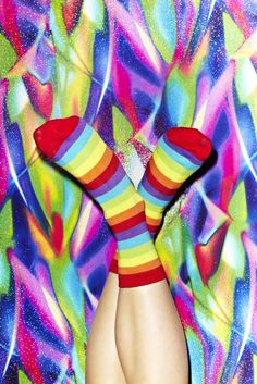 Rainbow Bright Socks