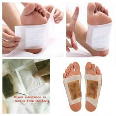 10Pcs Kinoki Detox Foot Pads Detoxification Patches - US$3.96