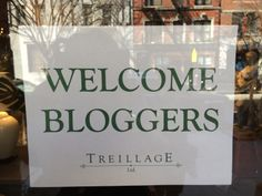 So nice to be greeted at the entrance of Treillage on #BlogTourNYC @Treillage