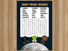 Star Wars Baby Shower, Star Wars Baby Shower Game, Star Wars Shower, Star Wars Shower Game, Star Wars Baby, Star Wars Word Search