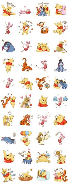 Introducing an all new Winnie the Pooh sticker set! All your favorite forest friends including Tigger, Eeeyore, and Piglet are here to fill your chats with their adorable charm!