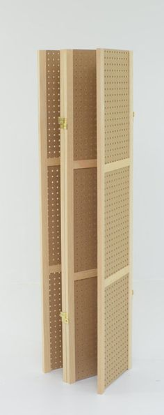 Pegboard Display – 4 panels, hinged to fold flat. Fits Standard pegboard hooks and access. Vendor Displays, Craft Booth Displays, Display Ideas, Display Stands, Booth Ideas, Craft Show Booths, Vendor Booth, Retail Displays, Shop Displays
