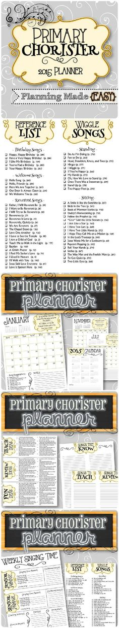 Primary Chorister planning done for you with the 2015 curriculum Primary 2014, Primary Songs, Primary Singing Time, Lds Primary, Primary Lessons, Primary Resources, Primary School, Song Suggestions, Primary Chorister
