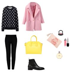 Look abrigo rosa Polyvore, Image, Fashion, Moda, Fasion, Fashion Illustrations, Fashion Models