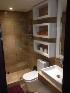 42 Super Creative DIY Bathroom Storage Projects to Organize Your Bathroom on a Budget - The Trending House Bathroom Design Luxury, Bathroom Layout, Modern Bathroom Design, Bathroom Storage, Bathroom Ideas, Bathroom Organization, Small Bathroom Interior, Bathroom Small, Bathroom Mirrors