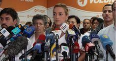 La esposa de Leopoldo López, Lilian Tintori, exige al régimen de Nicolás Maduro una fe de vida del líder opositor y preso de consciencia venezolano, luego