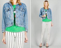 Ela Hawke Vintage // BLUE DENIM JACKET $59 // #elahawkevintage #denim #jacket #vintage #shop #online #shopping