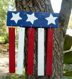 Wooden Lawn Decorations   Red, White & Blue Patriotic Wood Yard Decoration. 24.00, via Etsy.