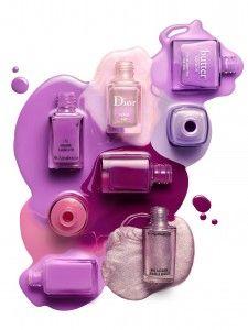 Shades of purple polish. Photo by David Newton.