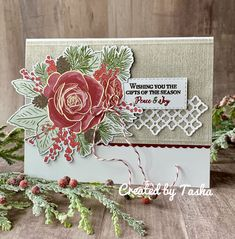 Christmastime is Here Suite - sneak peek. Stampin' Up! Stamped Christmas Cards, Christmas Card Crafts, Christmas Rose, Christmas Time Is Here, Stampin Up Christmas, Christmas Cards To Make, Christmas Greeting Cards, Holiday Cards, Christmas Flyer