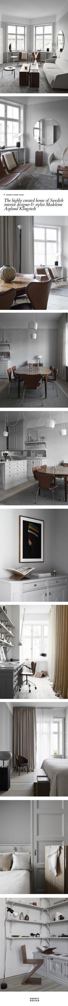 The highly curated home of Swedish interior designer & stylist Madeleine Asplund Kingstedt Nordic Interior, Kitchen Interior, Interior Design, Swedish Interiors, Rustic Interiors, Living Room Designs, Living Spaces, Nordic Living Room, Scandinavian Home