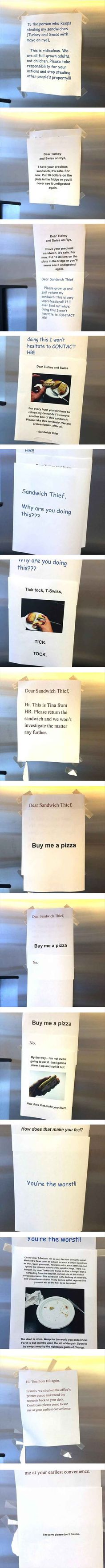 The Sandwich Thief Isn't Who You Think - 15 Pics