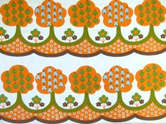 Tampella Trees vintage 70s fabric - available from Rainbow Vintage Home online shop