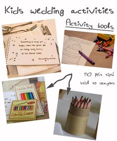 Ideas For Children S Wedding Activity Packs