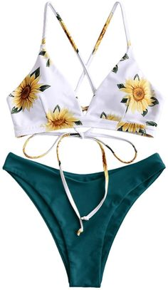 ✦Adjustable Back Lace-up Bikini:This bathing suit featured with adjustable back strap design, which can adjust the tightness according to the size.The unique appearance makes you stand out in the crowd ✦Occasion:Flower print swimsuit is perfect for wearing at swimming pool,tanning salon, water park,beach.Also a good choice for honeymoon and women friends gift Mix And Match Bikini, Prom Dresses Long With Sleeves, Mens Clothing Styles, Suit Clothing, Clothing Ideas, Two Piece Bikini, Bathing Suits, Swimsuits, Top Flowers