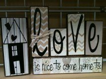 love is nice to come home to Wood Kit $12.00 (paper not included)