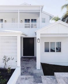 White on white is a timeless choice for this Hamptons inspired home, adding a clean, fresh look! What colour palette would you choose for…