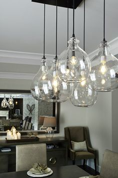 stunning pendants | room designed by Beth Ann Shepherd, Park City