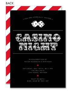 Roll The Dice Casino Party by Noteworthy Collections at InvitationBox.com