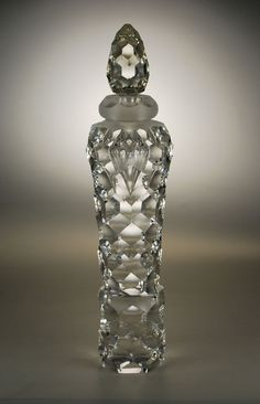 Cut Crystal Perfume Bottle. Shea Glass. Minneapolis. U.S.A