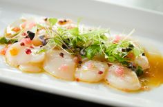 SASHIMI STYLE HOKKAIDO SCALLOP - a dish we absolutely LOVE and is on our current menu!! See recipe on our Facebook page!  https://www.facebook.com/KobeJonesMelbourne