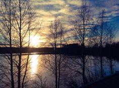 Auringonlasku Immeljärvellä