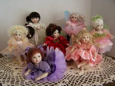 Nancy Peterson's Personal Collection. Marie Osmond Doll, Fairy Rosebud Series, 2008, Arabella, Ophelia, Fiona, Arabella Catching Butterflies, Daphne, Jacquenta,