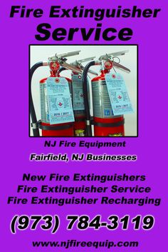 Fire Extinguisher Service Fairfield, NJ (973) 784-3119We're NJ Fire Equipment.. The Main Source for Fire Protection for New Jersey Businesses. Call Today!  We would love to hear from you.