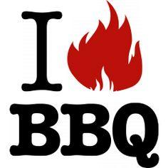 I love (flame) BBQ - Black