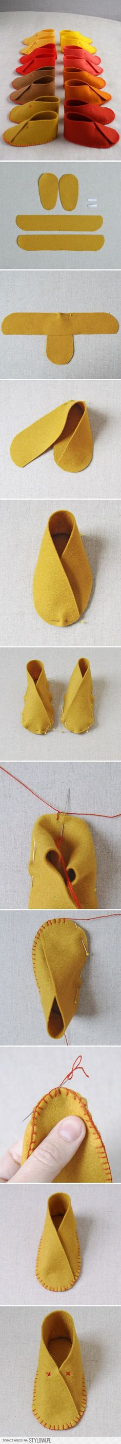DIY : The Cutest Felt Baby Shoes | Crochet and other pa… na Stylowi.pl
