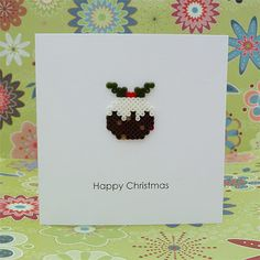 Hama Bead Christmas Puddings | All of me: Craft me Happy!: Hama Bead Christmas Puddings