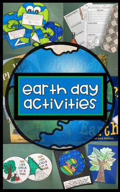 Earth Day resources for primary grades. Celebrate Earth Day with reading, writing, math, art and science. Center activities, crafts, games, home connect and printables helping to create a great mini unit to celebrate Earth Day.