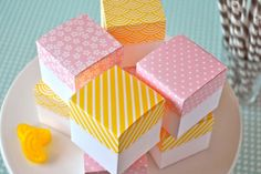 Patterned Gift Boxes | 30 Pretty Printables for Summer Soirees