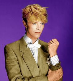 David Bowie .  He  can even wear a string bow tie and look good