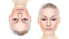 Kaksi kuvaa naisen päästä, joita muokattu kuvankäsittelyllä. Medical Conditions