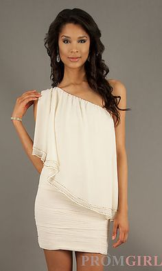 Short One Shoulder Dress at PromGirl.com WILL MAKE YOU ONE LIEFIE!!<3