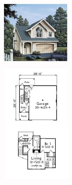[ Garage Plan Apartment Plans Small Apartments Pricing ] - Best Free Home Design Idea & Inspiration Garage House, Garage Loft, Garage Entry, Garage Workshop, Dream Garage, Small Garage, Double Garage, Garage Apartment Plans, Garage Apartments