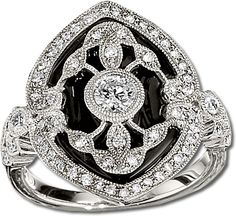Gottlieb & Sons onyx filigree ring